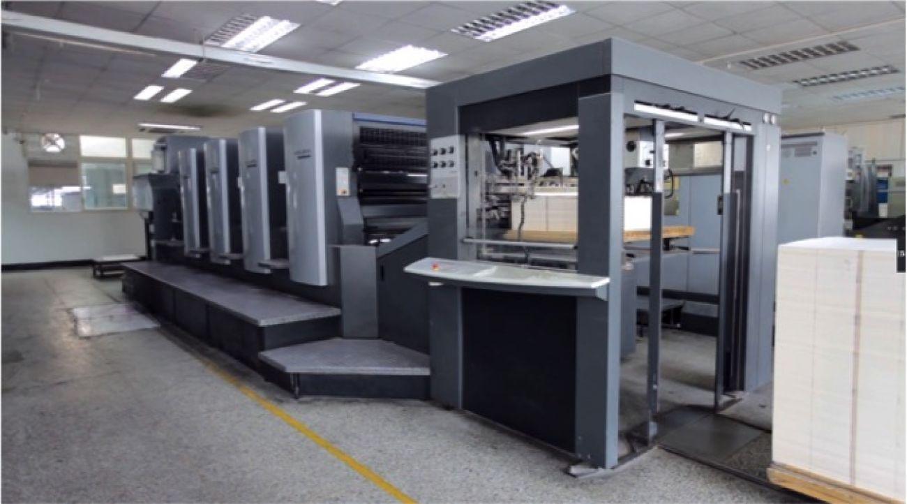Heidelberg four-color printer*3<br>印刷设备-海德堡对开4色印刷机x3