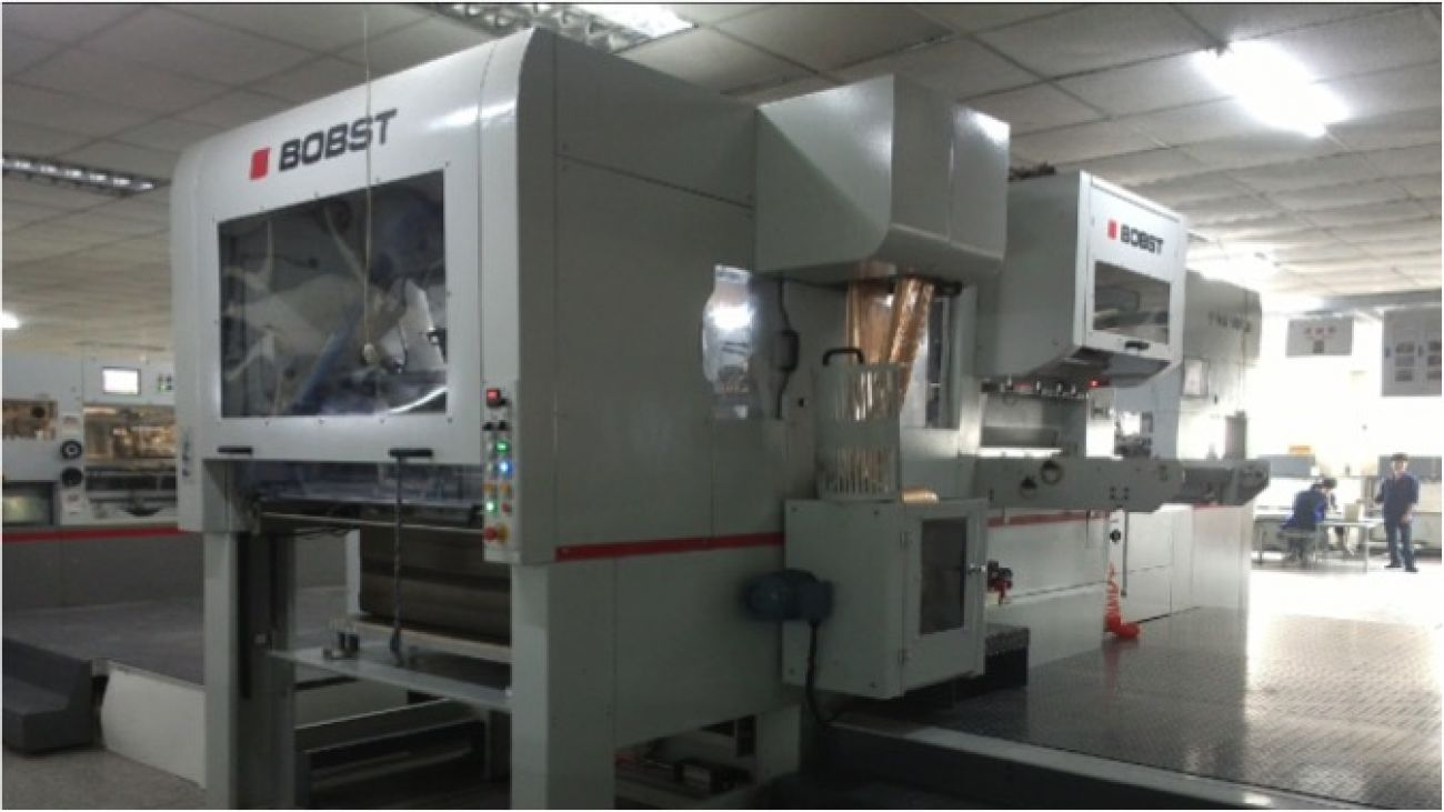 BOBST automatic blocking machine<br>包装设备 - BOBST全自动烫金机